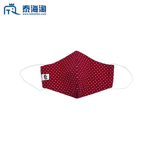 【直邮】Aiya布艺红色波点环保可洗口罩