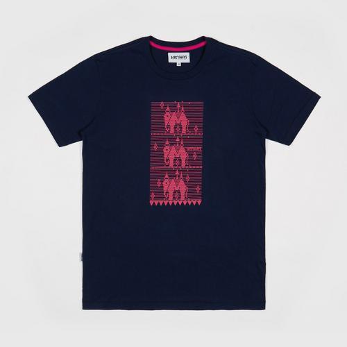 【直邮】MAHANAKHON玛哈那空泰国大象兰纳城深蓝色系列2印花短袖T恤S码