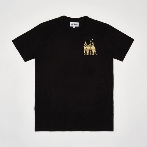 MAHANAKHON玛哈那空泰国大象兰纳城黑色烫金印花短袖T恤S码
