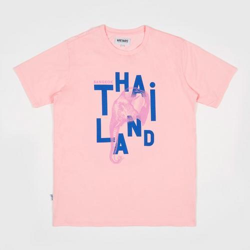 MAHANAKHON玛哈那空泰国象图案短袖T恤粉色S码