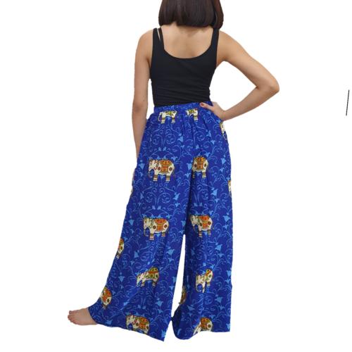WATER SCENT泰国女士宽摆长裙深蓝色