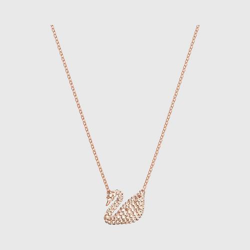 【国际品牌】SWAROVSKI施华洛世奇标志性天鹅玫瑰金项链吊坠38cm