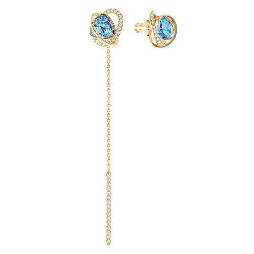SWAROVSKI施华洛世奇水色镀金水晶耳环8.5cm