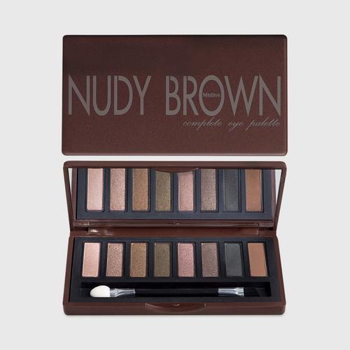 泰国Mistine蜜丝婷NUDY BROWN中褐色八色眼影
