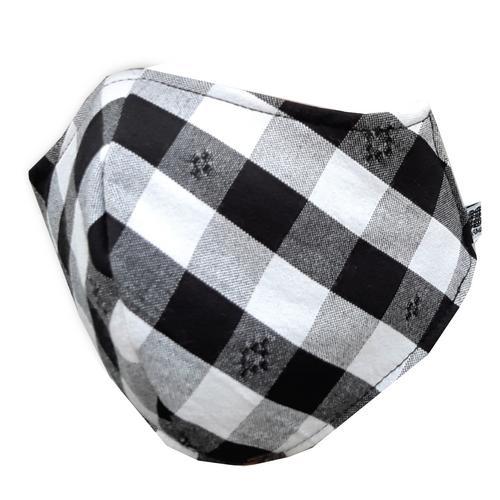 【直邮】IMPANI布艺黑白灰格子环保可洗口罩