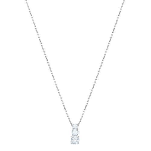 【国际品牌】SWAROVSKI施华洛世奇吸引三部曲圆形镀铑吊坠38/0.5 x 1 cm