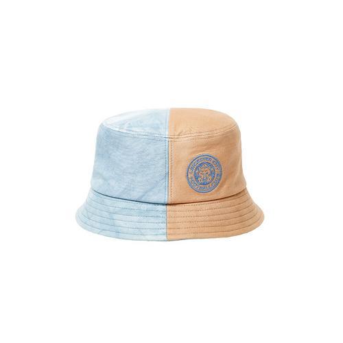 LCFC莱斯特城制造天然泰国植物染料晕染粉蓝三文鱼橙撞色渔夫帽
