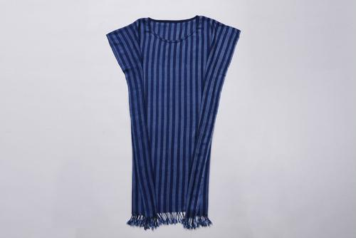 PHAYDOKPLUI深蓝条纹泰式手工裙装 OTOP