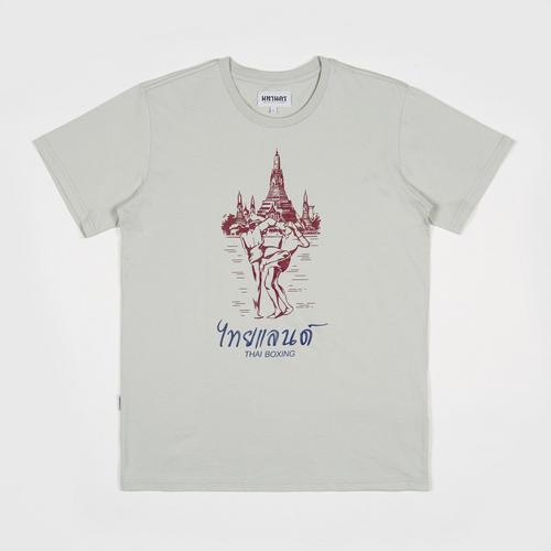 MAHANAKHON玛哈那空泰拳图案短袖T恤灰色S码