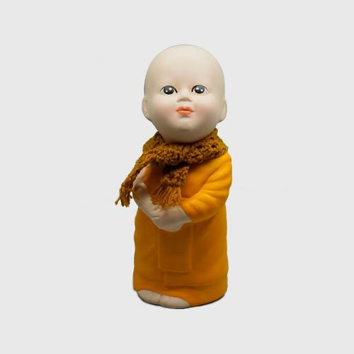 AROMDIN小沙弥直立凝视围巾造型创意摆件 OTOP