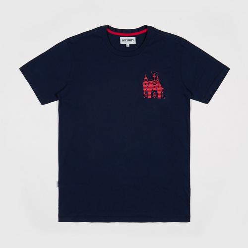 【直邮】MAHANAKHON玛哈那空泰国大象兰纳城深蓝色印花短袖T恤S码