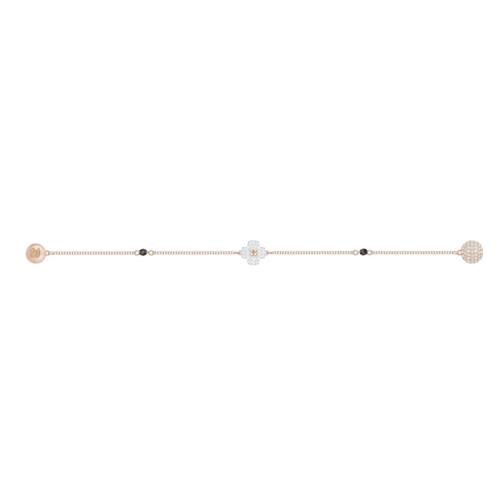 SWAROVSKI施华洛世奇四叶草白水晶镀玫瑰金手链 17.3 cm