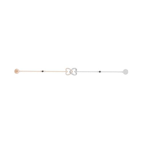 SWAROVSKI施华洛世奇永恒系列镀玫瑰金镀铑手链17.3cm