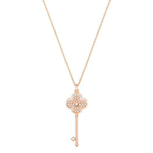 【国际品牌】SWAROVSKI施华洛世奇钥匙镀玫瑰金项链40cm(吊坠尺寸4.1.5cm)