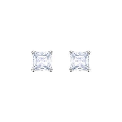 【国际品牌】SWAROVSKI施华洛世奇魅力镀铑水晶耳环0.5cm