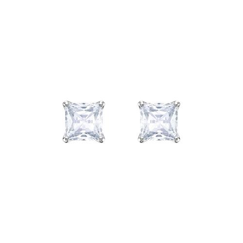SWAROVSKI施华洛世奇魅力镀铑水晶耳环0.5cm
