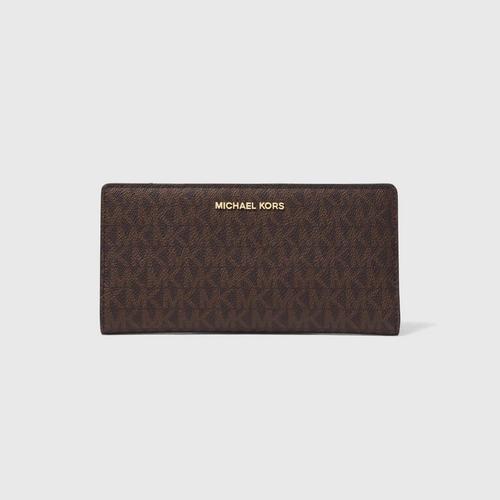 【国际品牌】MICHAEL KORS  薄款两折老花钱包钱夹女长款钱包带卡包