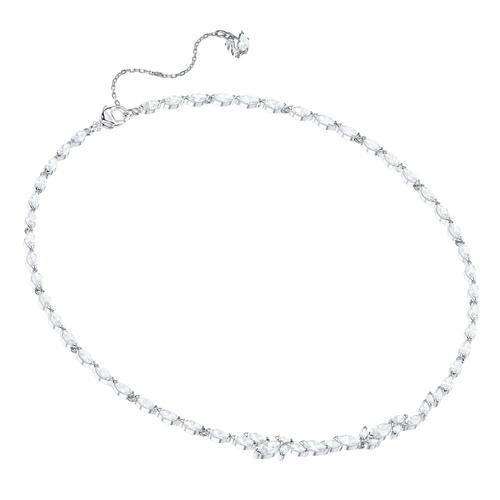 【国际品牌】SWAROVSKI施华洛世奇路易森镀铑水晶项链38cm