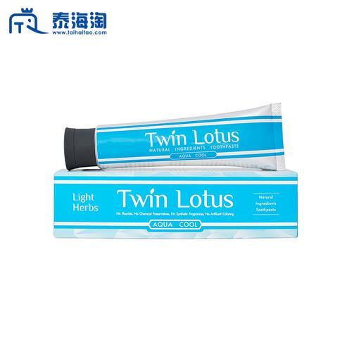 【直邮】TWIN LOTUS双莲冰泉固齿植物牙膏160g