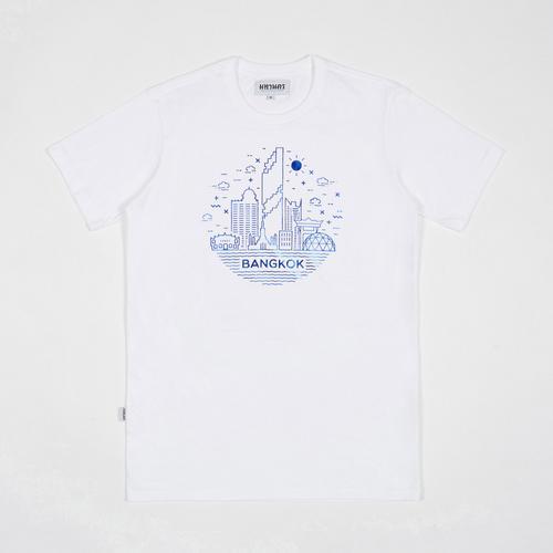 MAHANAKHON玛哈那空曼谷城市地标短袖T恤白色S码