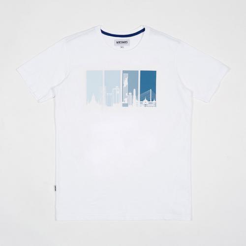MAHANAKHON玛哈那空曼谷城市地标剪影短袖T恤白色S码