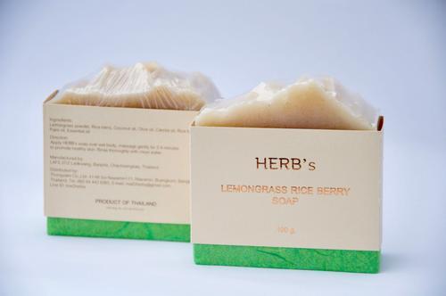 HERB柠檬草紫莓香米精油皂100g