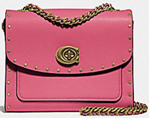 【国际品牌】COACH蔻驰专柜款官方正品PARKER系列女士山茶花时尚单肩斜挎包粉红