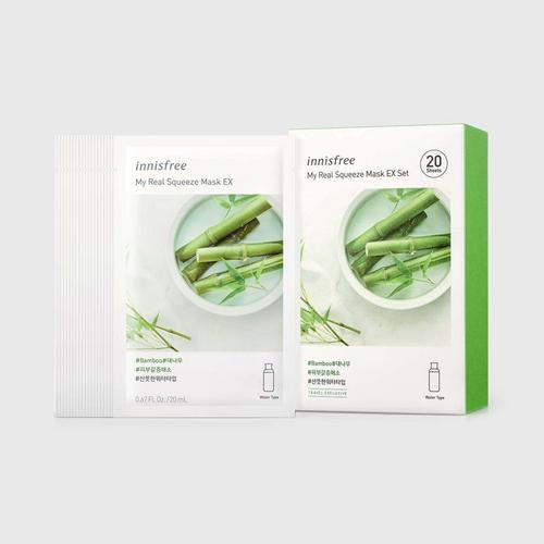 INNISFREE 悦诗风吟青竹面膜My Real Squeeze Mask EX Set - Cucumber (20ml x 20 Sheets)
