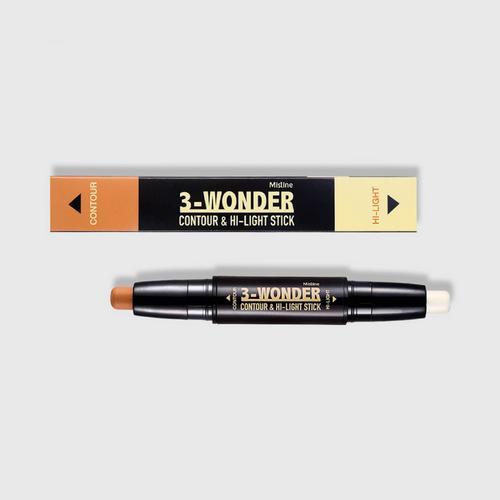 泰国Mistine双头修容棒3-wonder卧蚕高光阴影修容笔