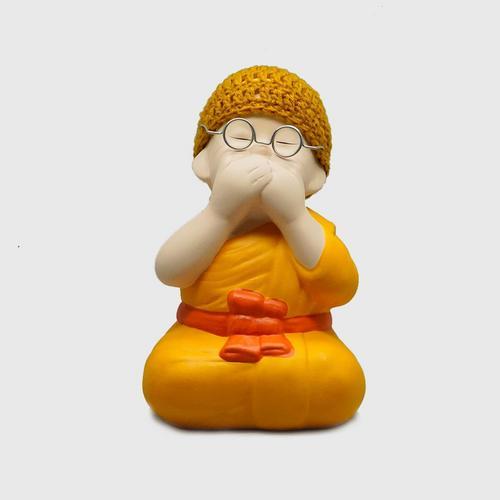 AROMDIN小沙弥佛语不说造型创意摆件 OTOP