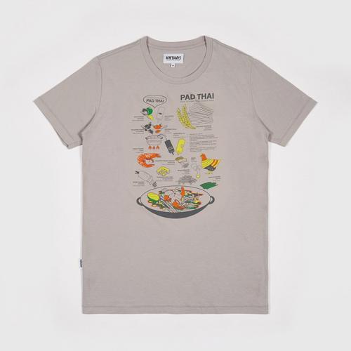 MAHANAKHON玛哈那空泰式炒面创意图案短袖T恤灰色S码