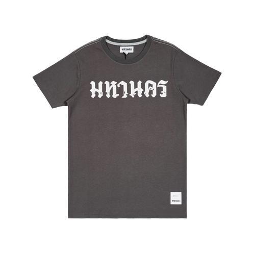 【直邮】MAHANAKHON玛哈那空灰色泰文印花短袖T恤S码