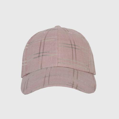 JUTATIP手工纺棉粉红鸭舌帽