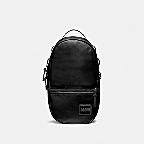 【国际品牌】COACH 男士Pacer系列双肩包纯色皮质休闲背包书包