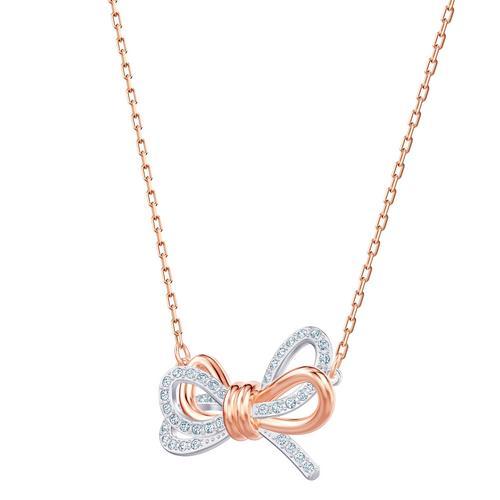 【国际品牌】SWAROVSKI施华洛世奇生命之结双色镀玫瑰金项链40cm