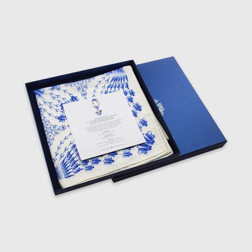 INTHAI青花瓷花纹图案丝巾