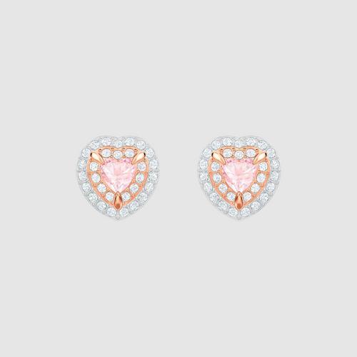 SWAROVSKI施华洛世奇多色水晶镀玫瑰金耳环1 cm
