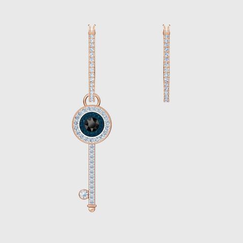 【国际品牌】SWAROVSKI施华洛世奇恶魔之眼钥匙镀玫瑰金耳环
