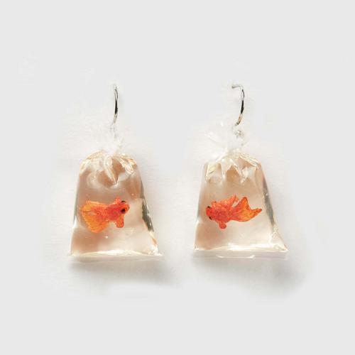 SANFAN OTOP袋装金鱼耳环