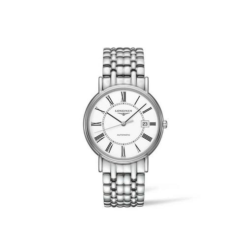 【国际品牌】Longines浪琴瑰丽系列男士手表机械罗马白盘手表 34.5mm L4.821.4.11.6