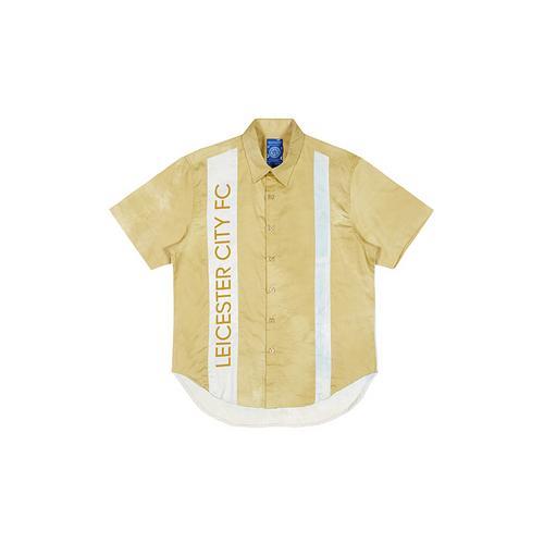 LCFC莱斯特城制造天然泰国植物染料晕染秋叶黄短袖休闲衬衫