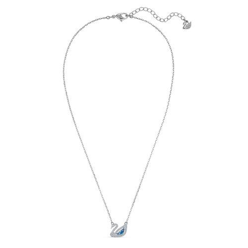 【国际品牌】SWAROVSKI施华洛世奇镀铑蓝色天鹅项链38cm(天鹅尺寸1.7x1.2 cm)
