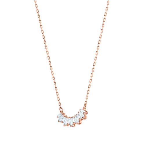 SWAROVSKI施华洛世奇白水晶镀玫瑰金阳光项链38cm