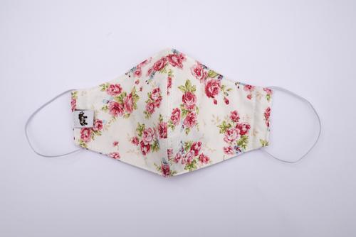 Aiya布艺白底花卉环保可洗口罩