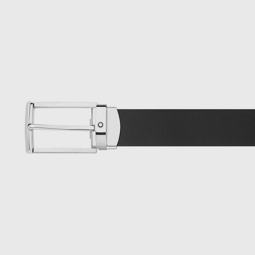 【国际品牌】MONTBLANC万宝龙男士黑色皮带120cm
