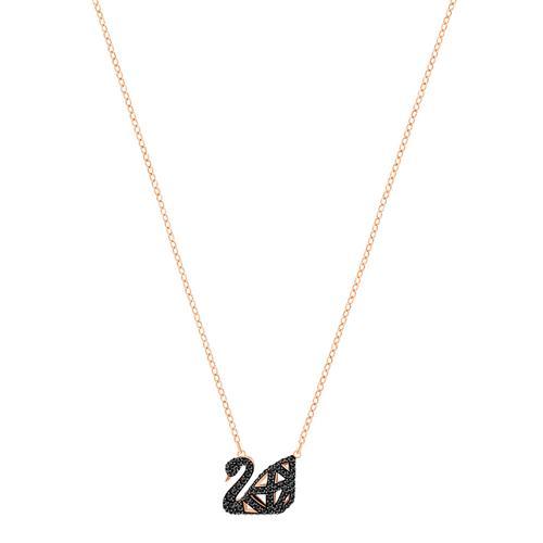 【国际品牌】SWAROVSKI施华洛世奇黑天鹅镀玫瑰金项链38cm