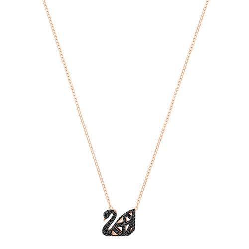 SWAROVSKI施华洛世奇黑天鹅镀玫瑰金项链38cm