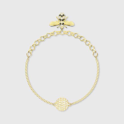 【国际品牌】SWAROVSKI施华洛世奇黑金蜜蜂手链18.2cm