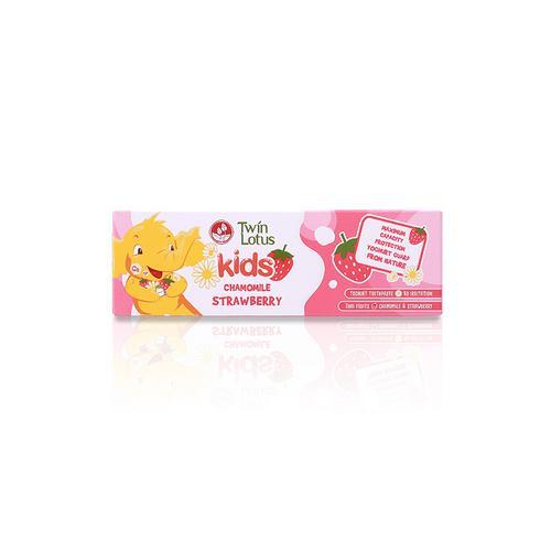 TWIN LOTUS双莲优乳益齿儿童牙膏草莓&洋甘菊50g