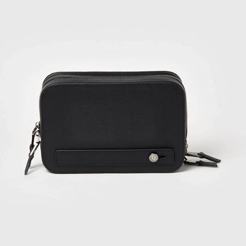 LONGLAI黑色牛皮旅行包手拿包